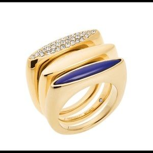 Michael Kors | Stackable Gold-Tone Rings | Size 8